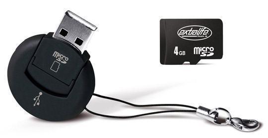 Mini chaveiro Extralife com cartão microSD de 4GB!