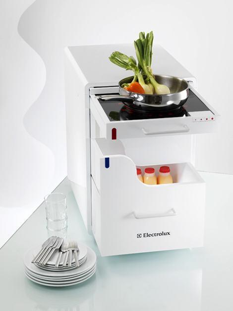 Drawer Kitchen, Uma Cozinha Modular para Workaholics e Preguiçosos em Geral