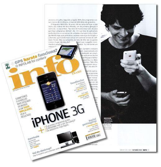 Nick Ellis na Revista Info Exame de Outubro!