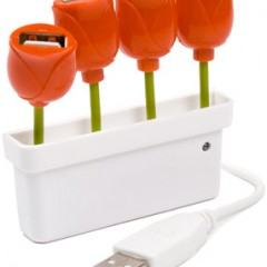 Um Vaso de Tulipas USB para Transformar a sua Mesa em um Jardim