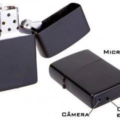 Isqueiro Zippo, para Espiões, com Câmera de Vídeo Escondida!