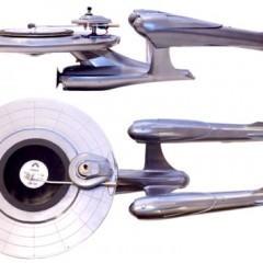 Toca-Discos com a Forma da USS Enterprise de Star Trek!