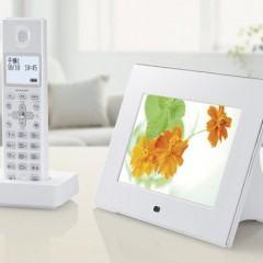 Telefone Sem Fio com Porta-Retrato Touchscreen da Sharp