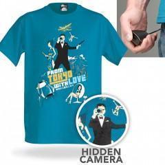 Camiseta com Câmera Espiã Escondida