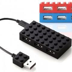 USB Hub em Forma de Bloco LEGO 8×4