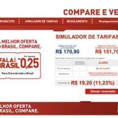 """Campanha Claro """"compare e venha"""" com simulador de tarifas"""
