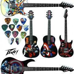 Guitarras Peavey com Personagens Marvel