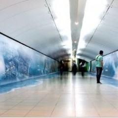 Estação do Metrô Rio é Inundada na Ação de Lançamento do Filme 2012