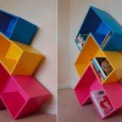 Arrow Bookshelf, a estante do Tetris