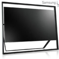 "TV Ultra HD Samsung com Tela de 85"" Estilo Quadro Negro"