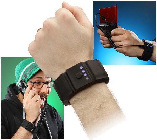 pulseira   bateria para recarregar gadgets