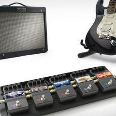 iStomp, um pedal que pode ter até 47 efeitos sonoros diferentes