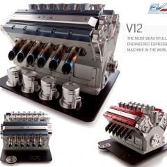 Cafeteira em Forma de Motor V12