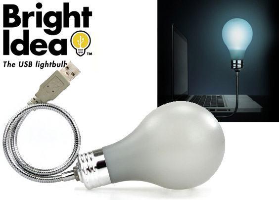 Luminária USB em Forma de Lâmpada Incandescente