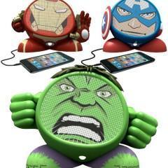 Caixas de Som Avengers: Iron Man, Cap. América e Hulk