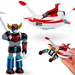 Flash Drive do Super Robô UFO Robo Grendizer com Hub Disco Voador