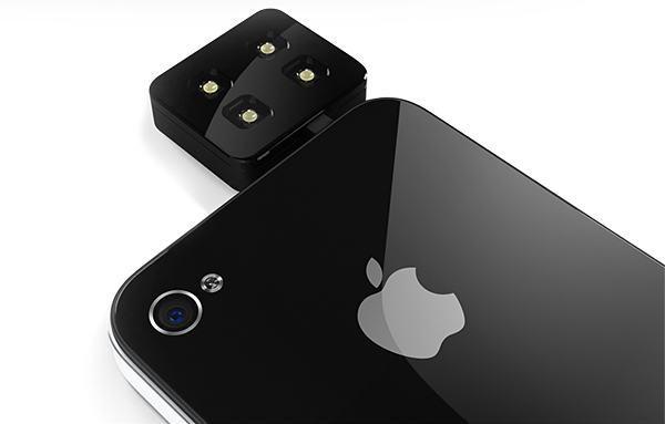 Um Flash LED para tirar fotos e gravar vídeos muito mais iluminados com seu iPhone