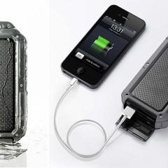 PowerPak Xtreme NT120R, uma bateria externa pode ser usada mesmo sob a chuva