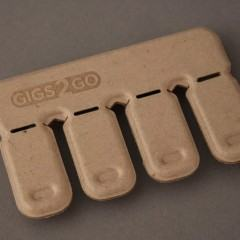 Gigs 2 Go com 4 flash drives USB destacáveis