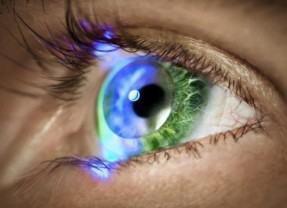Lentes de contato com realidade aumentada da iOptik