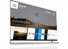 Interface da TV LG com webOS aparece na web