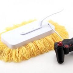 Mop, lata de lixo e porta lenços com controle remoto tornam a limpeza mais divertida!