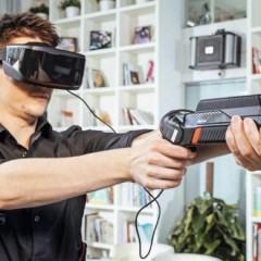ANTVR, óculos de realidade virtual com gamepad que vira arma (ou sabre de luz)