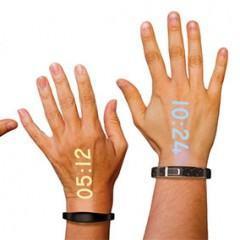 Ritot, um relógio de pulso que projeta as horas na sua mão