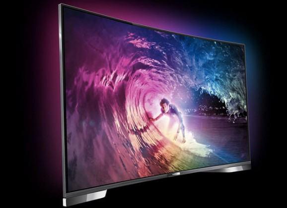 Philips Série 8900, a primeira TV curva 4K com ambilight