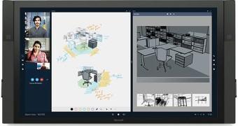 Microsoft Surface Hub, um computador com tela 4K de 84″ para salas de reunião