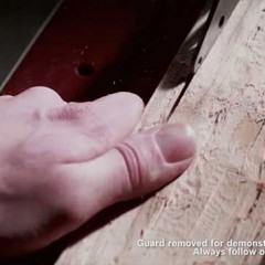 Serra anti-acidentes detecta pele, solta lâmina e volta a funcionar em 60 seg!