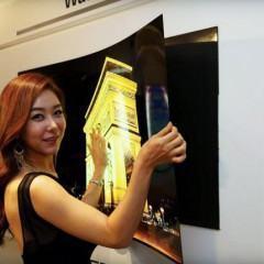 Tela OLED ultra-fina da LG pode ser pendurada na parede com imãs