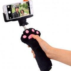 Pau de selfie com estilo de pata de gato
