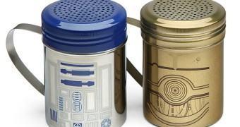 Saleiro R2-D2 e pimenteiro C-3PO