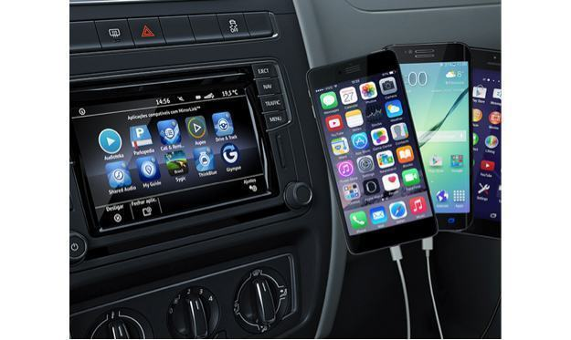 conectividade volkswagen traz os apps do seu iphone ou. Black Bedroom Furniture Sets. Home Design Ideas