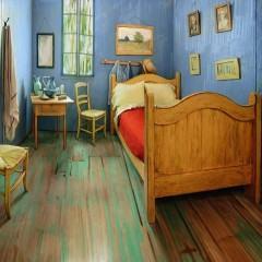 Réplica do quarto de Van Gogh em estilo pós-impressionista disponível no Airbnb!
