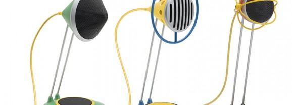 Microfones Widget com estilo retrô