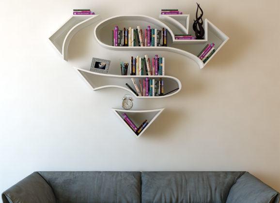 Estas estantes de super-heróis são perfeitas para a casa de qualquer geek!