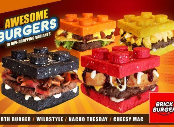 Hambúrgueres (comestíveis) em formato de LEGO!