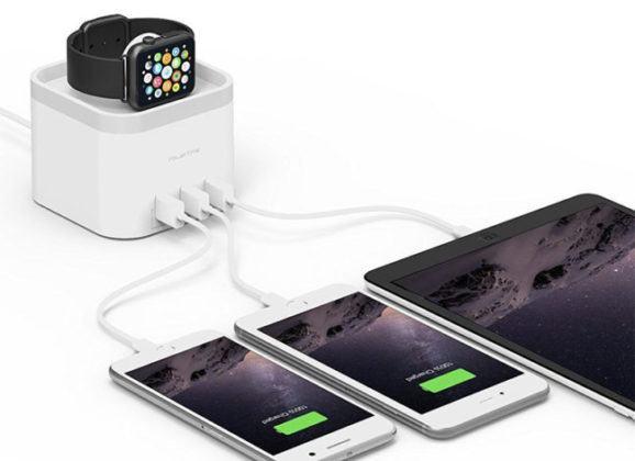 Dock para Apple Watch com três portas USB pra recarregar seus outros gadgets