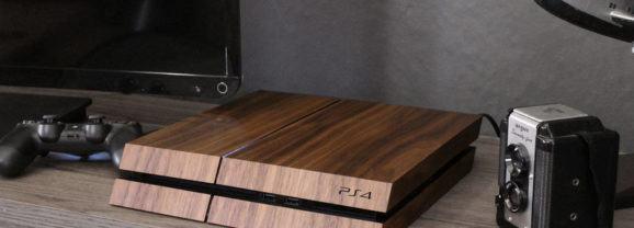 Que tal uma capa de madeira para o seu Playstation 4?