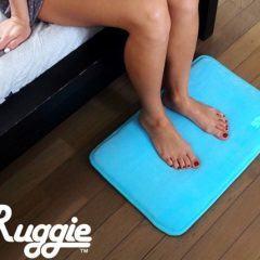 Ruggie, um despertador/tapete que só para de tocar quando você fica em pé