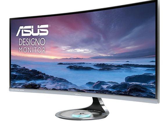 Monitor com tela curva da Asus tem dock Qi para carregar seus gadgets sem fio