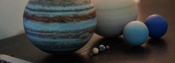 Sistema Solar impresso em 3D em escala real