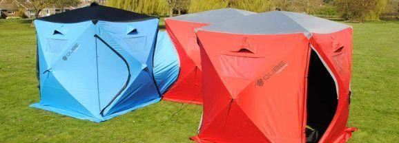 Qube, uma barraca modular para acampar com um grupo de amigos