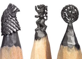 Mini esculturas de Game of Thrones e outras sagas feitas em grafite!