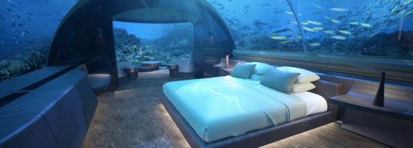 Muraka, uma suíte submersa pra quem quer dormir no fundo do mar
