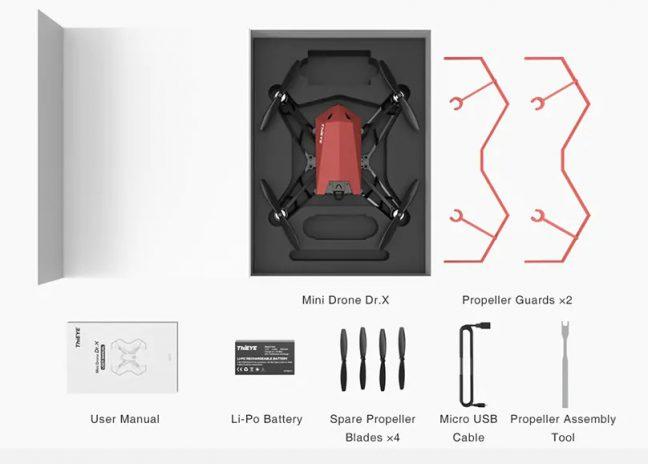 Acessórios do drone Dr. X da ThiEye, com desconto especial para leitores do DD na Gearbest.