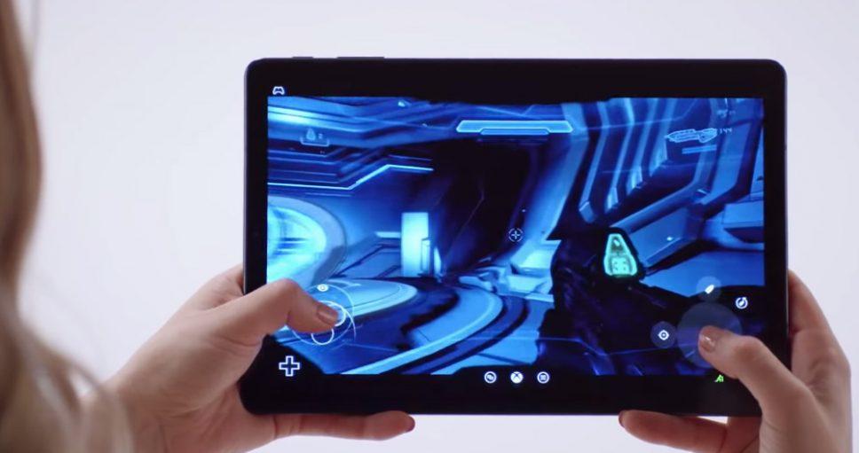 Project xCloud da Microsoft rodando em um tablet