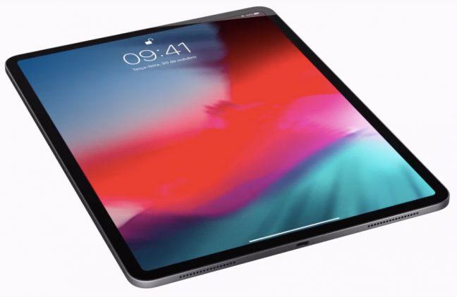 Novo iPad Pro da Apple com bordas mais finas.
